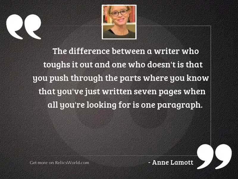 The difference between a writer