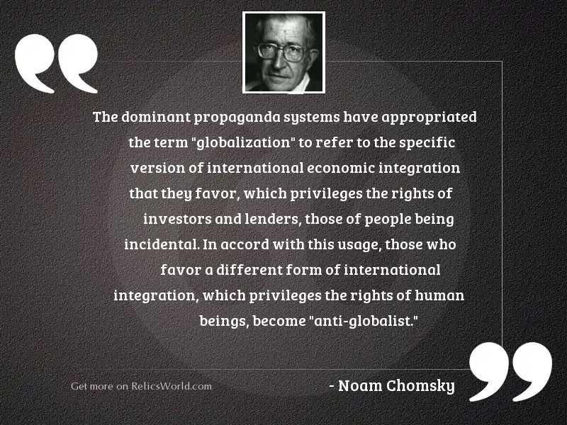 The dominant propaganda systems have