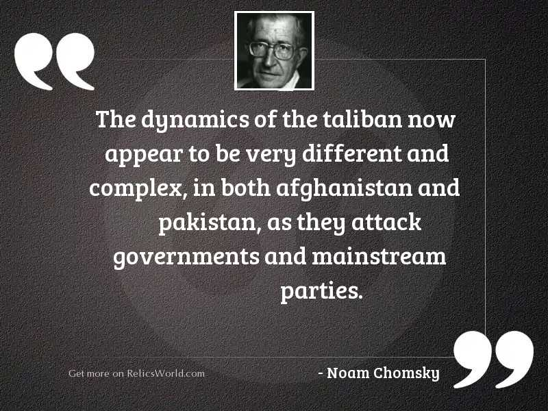 The dynamics of the Taliban
