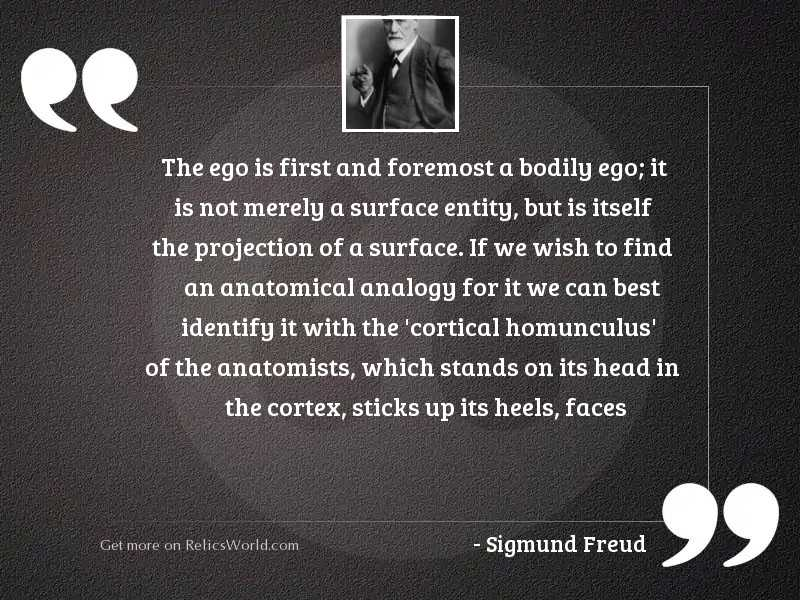The ego is first and