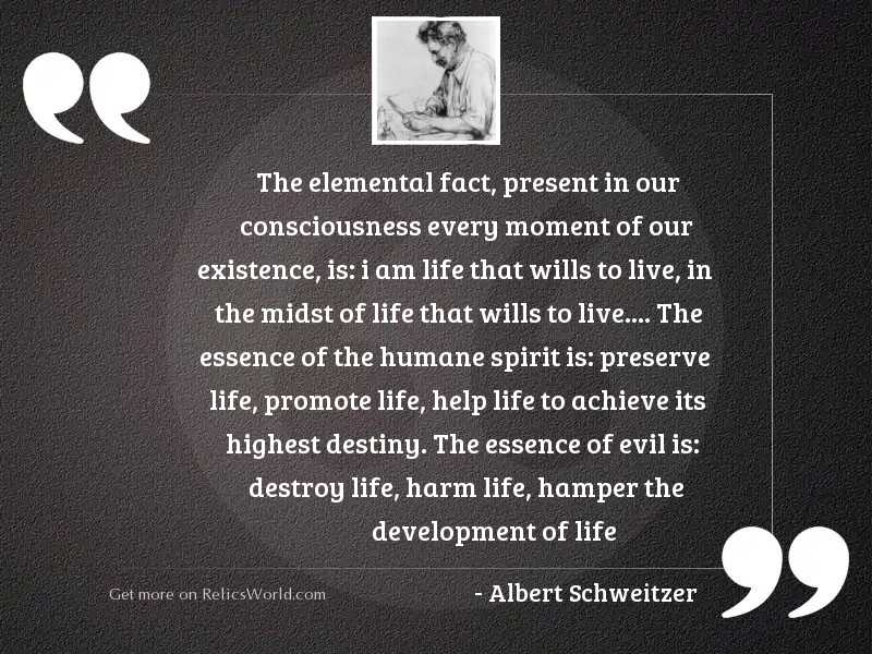 The elemental fact, present in