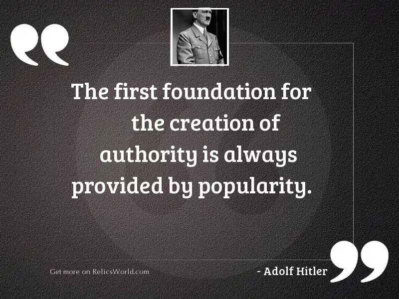 The first foundation for the