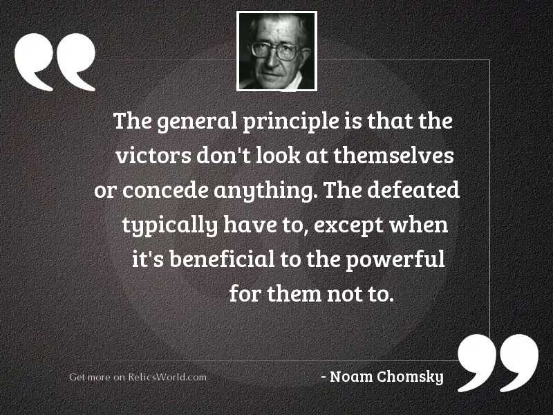 The general principle is that