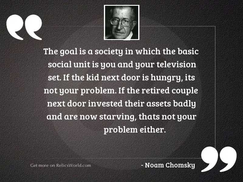 The goal is a society