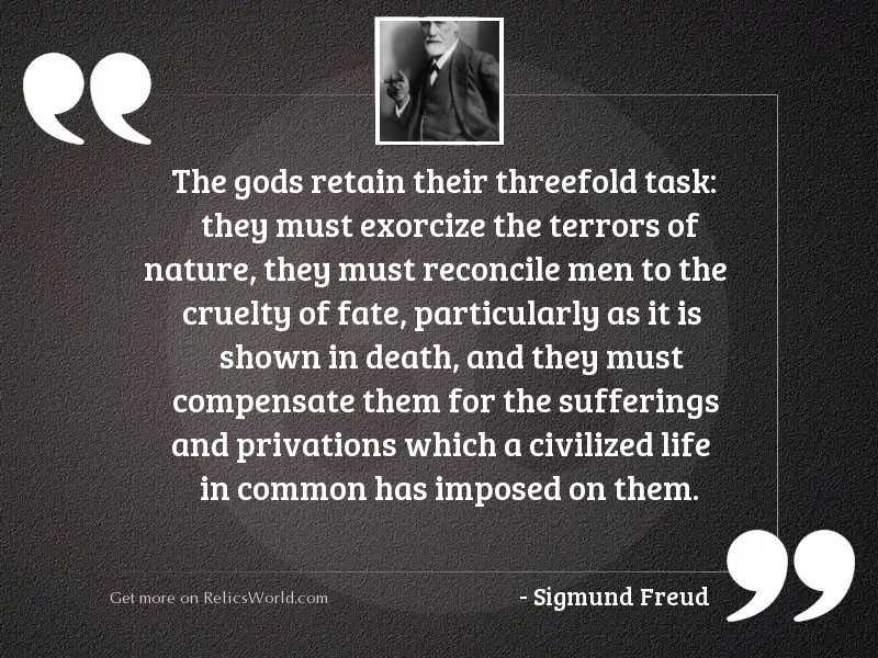 The gods retain their threefold