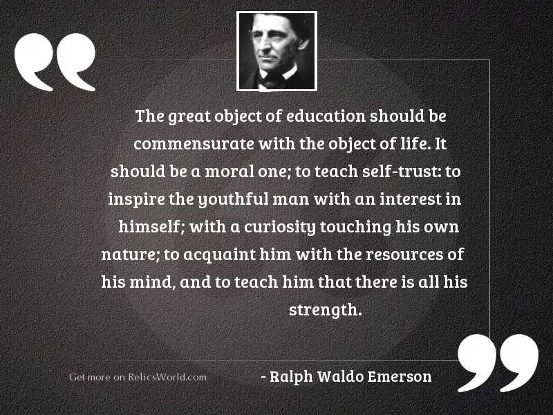 The great object of Education