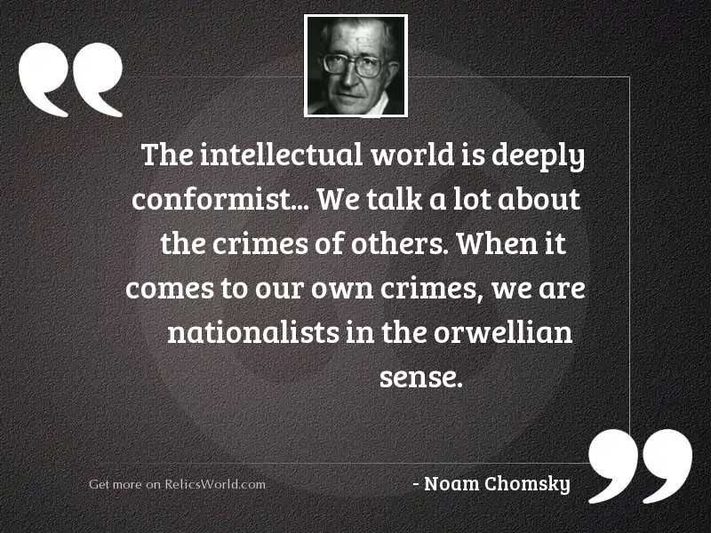 The intellectual world is deeply