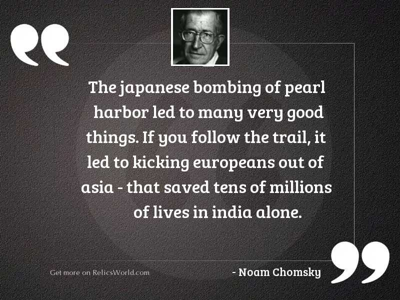 The Japanese bombing of Pearl