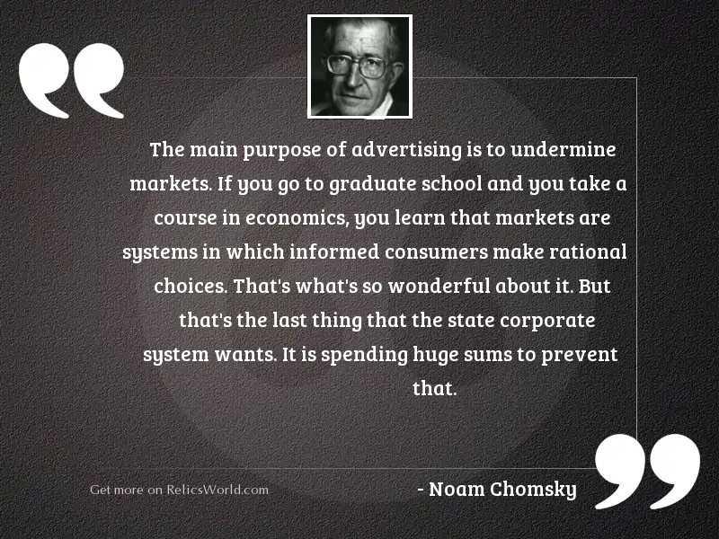 The main purpose of advertising