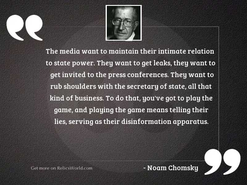 The media want to maintain