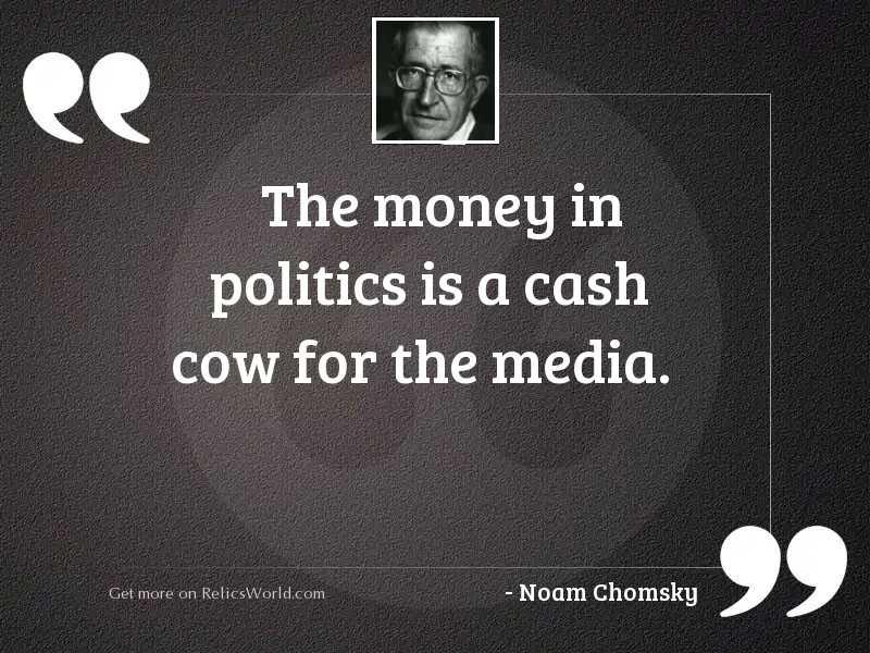 The money in politics is