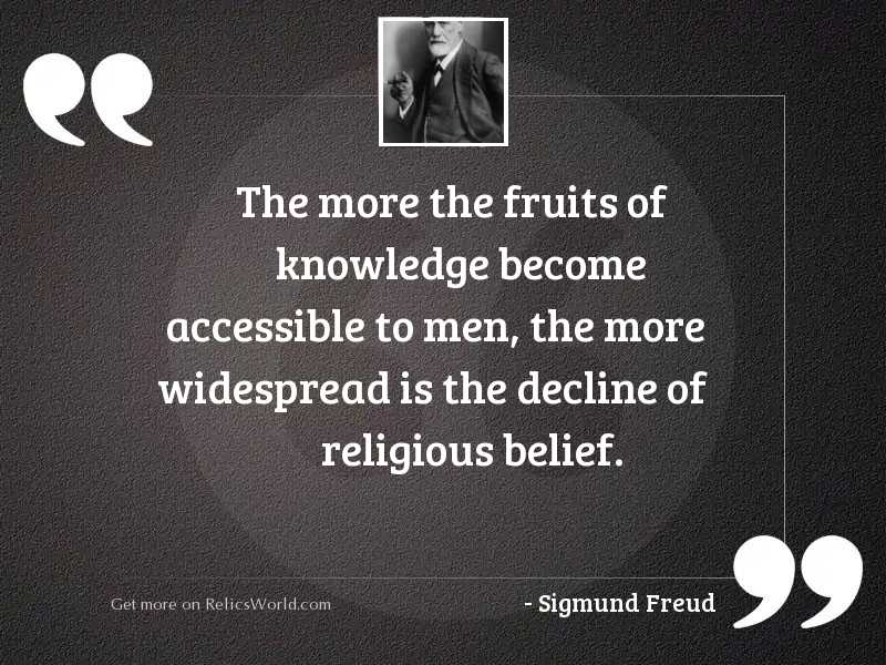 The more the fruits of