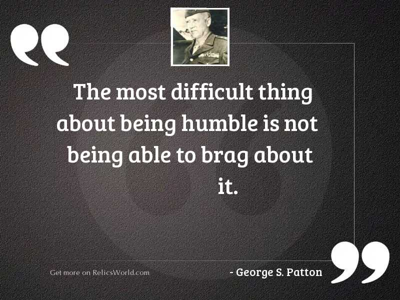 The most difficult thing about