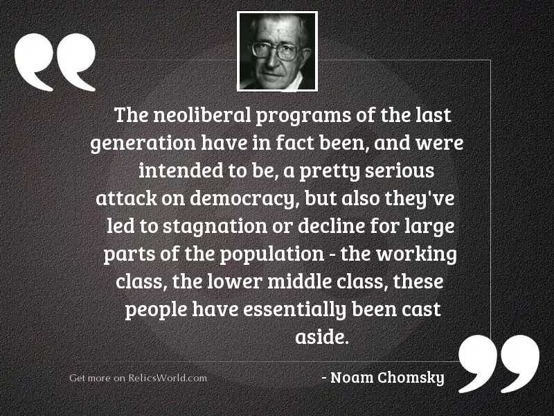 The neoliberal programs of the