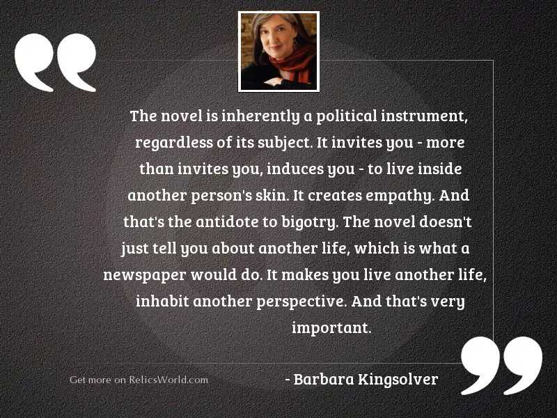 the novel is inherently a