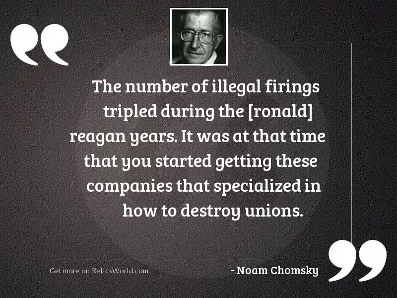 The number of illegal firings