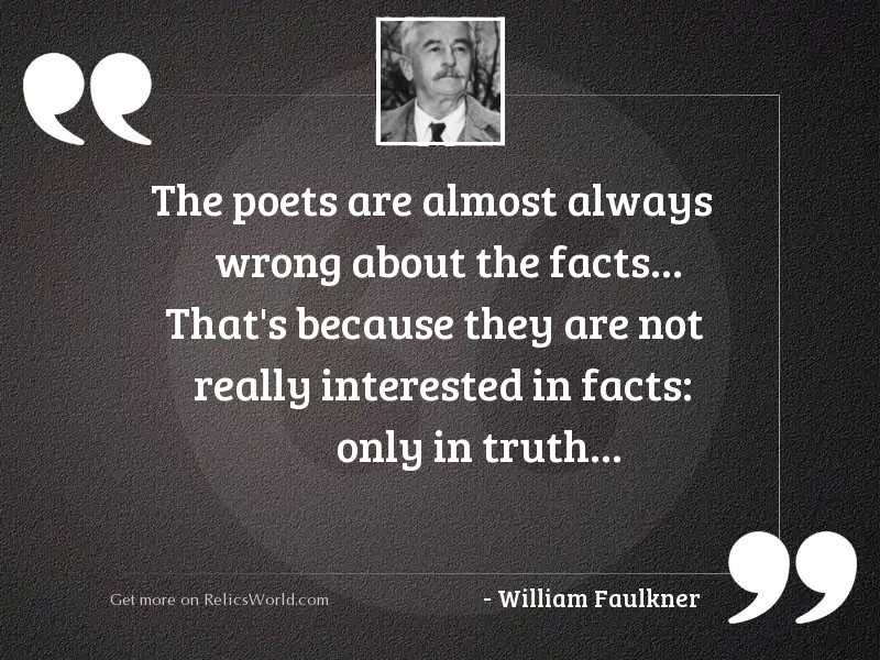 The poets are almost always