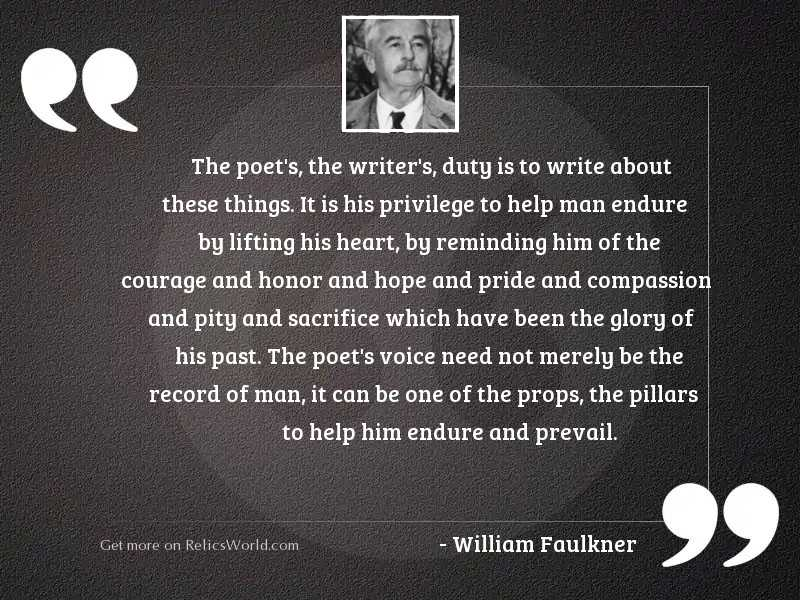 The poet's, the writer'