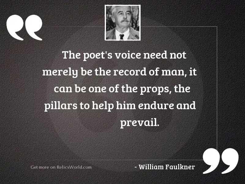 The poet's voice need