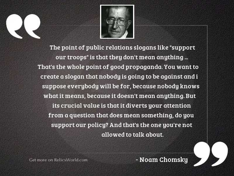 The point of public relations