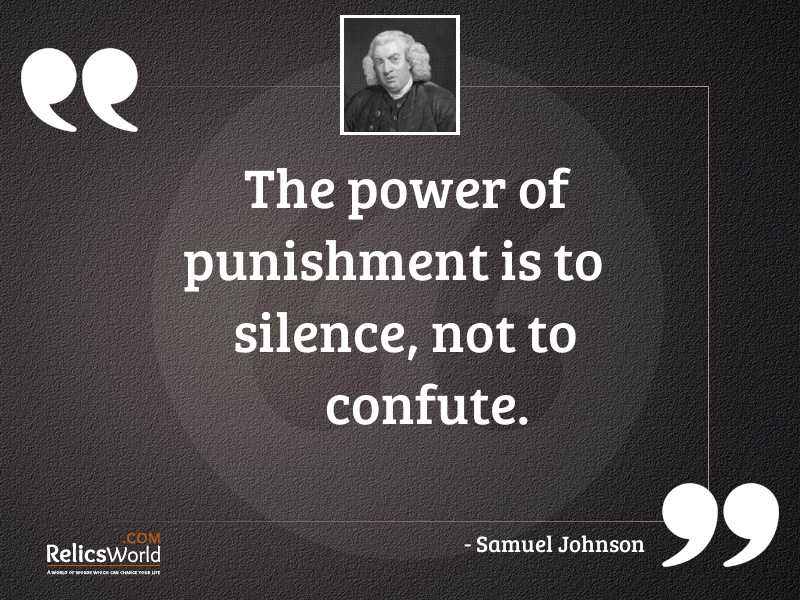 The power of punishment is