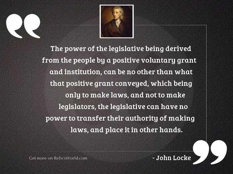 The power of the legislative