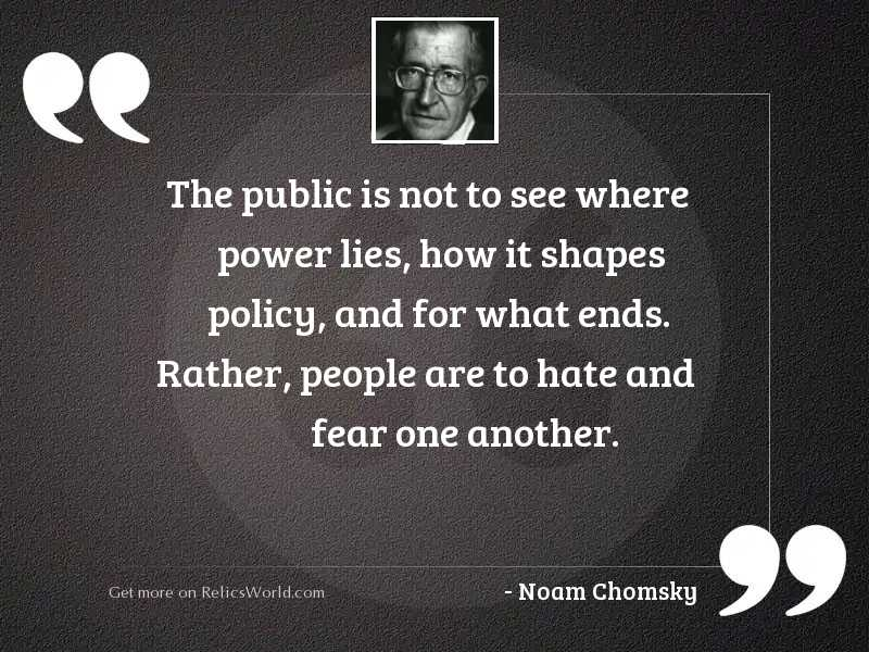 The public is not to