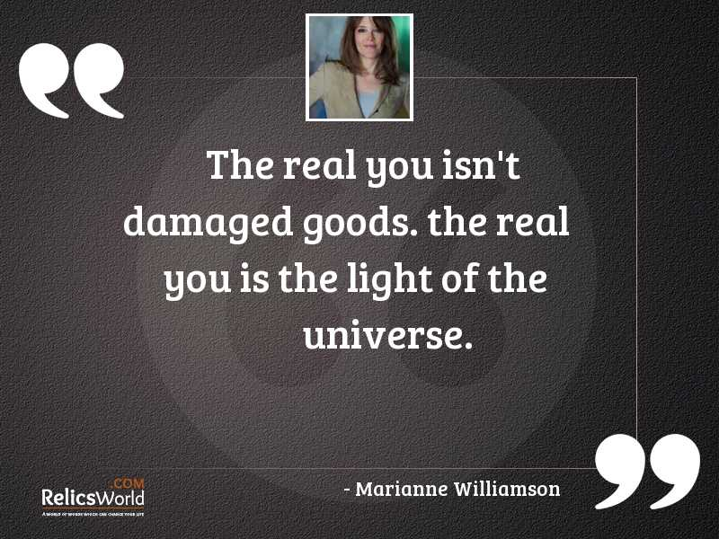 The Real You isnt damaged