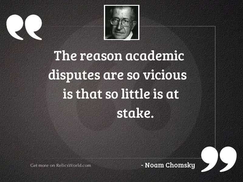 The reason academic disputes are