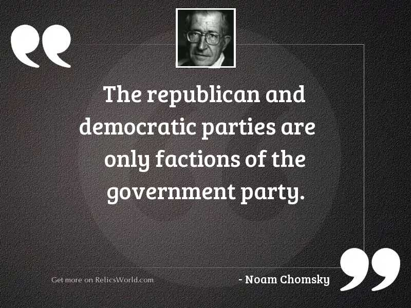 The Republican and Democratic Parties
