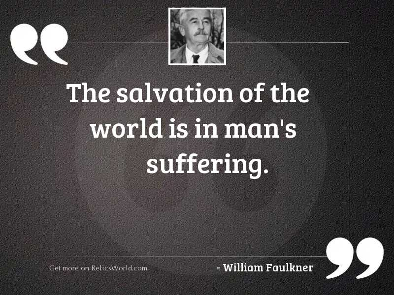 The salvation of the world