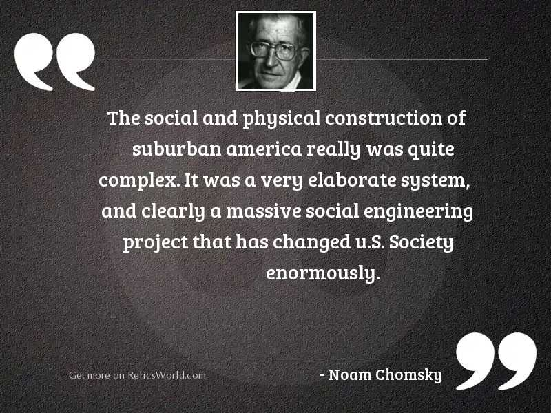 The social and physical construction