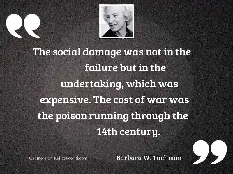The social damage was not