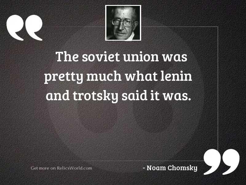 The Soviet Union was pretty