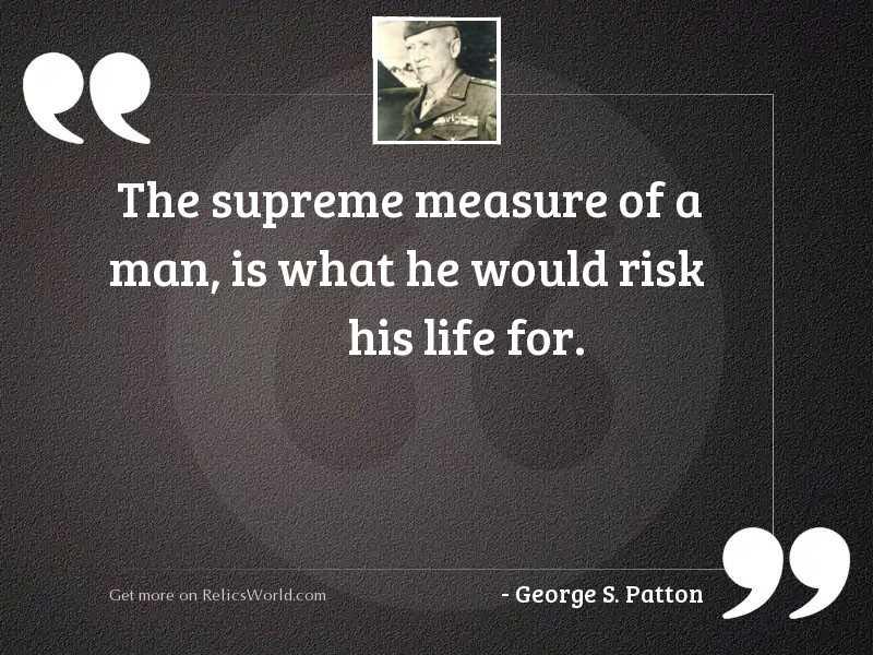The supreme measure of a