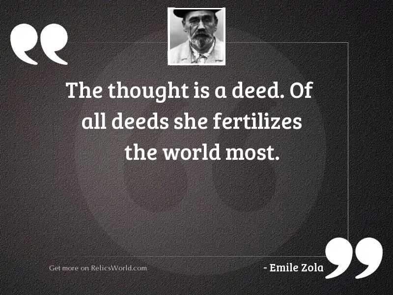 The thought is a deed.