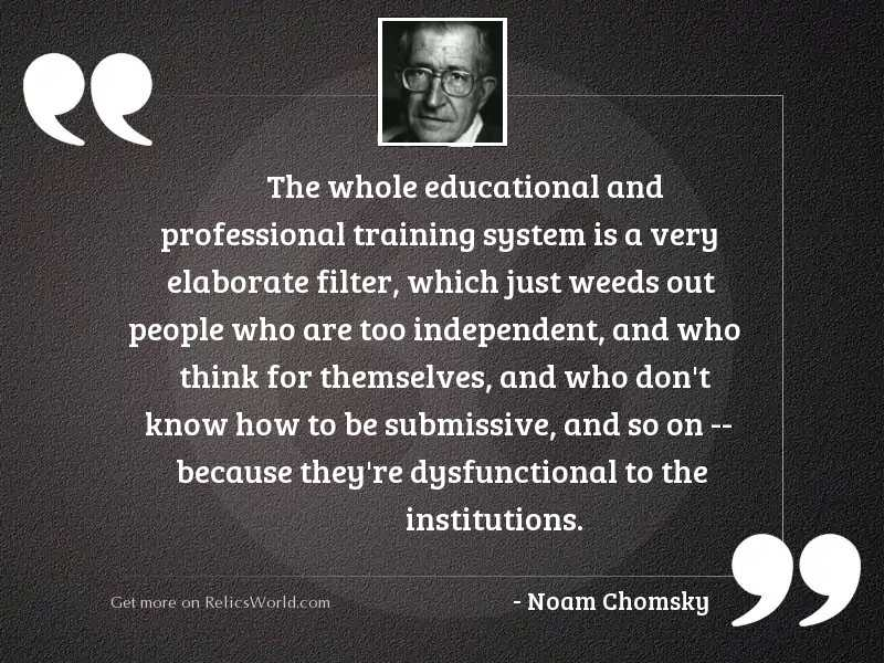The whole educational and professional