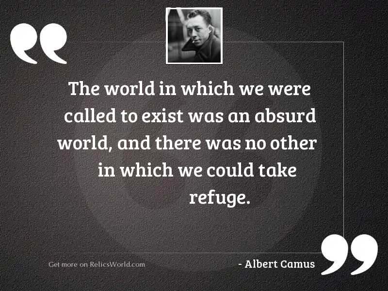The world in which we