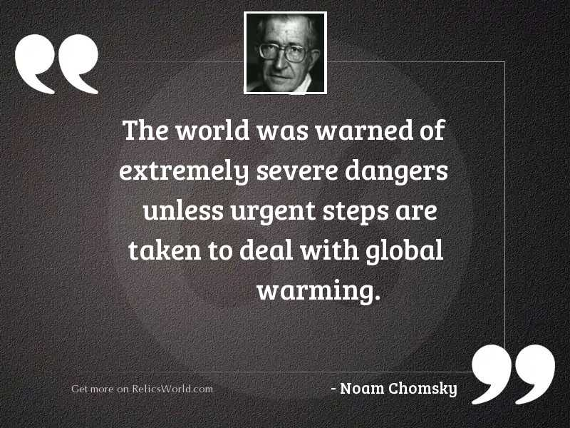 The world was warned of