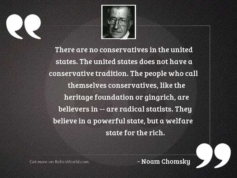 There are no conservatives in