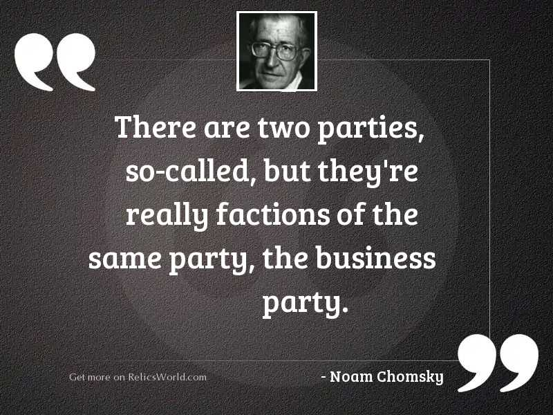 There are two parties, so