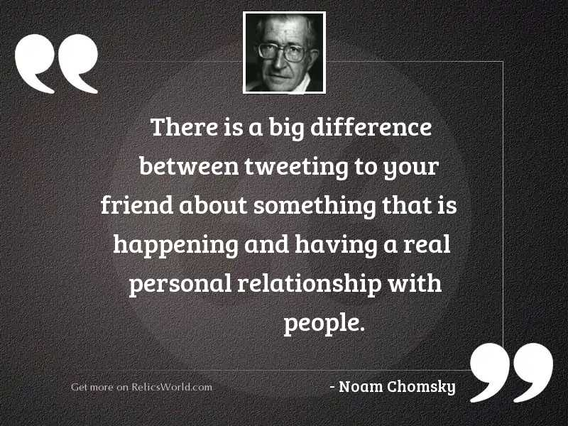 There is a big difference