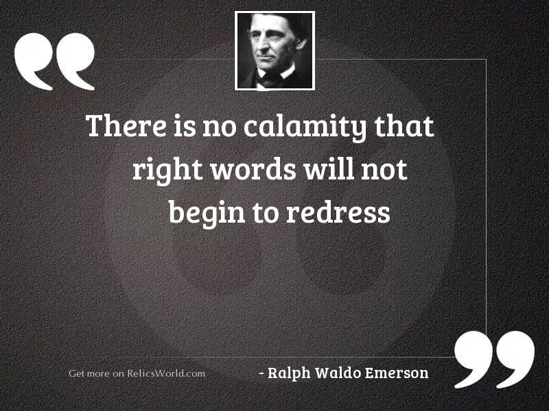 There is no calamity that