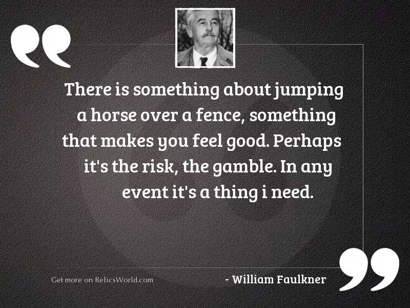 There is something about jumping