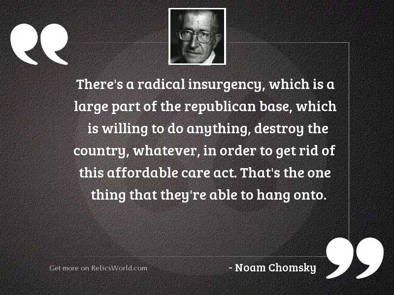 There's a radical insurgency,