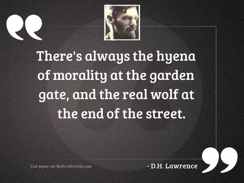 Theres always the hyena of