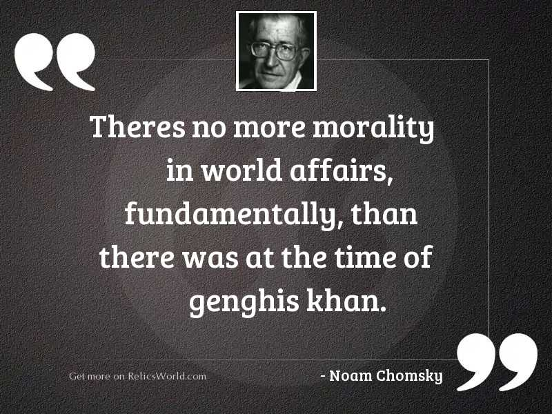 Theres no more morality in