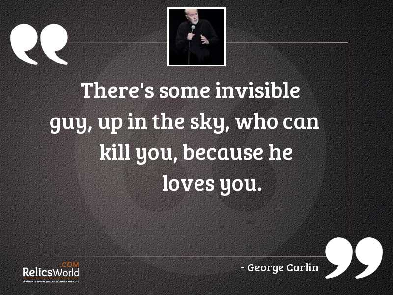 Theres some invisible guy up