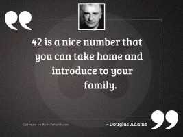 42 is a nice number