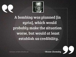 A bombing was planned [in